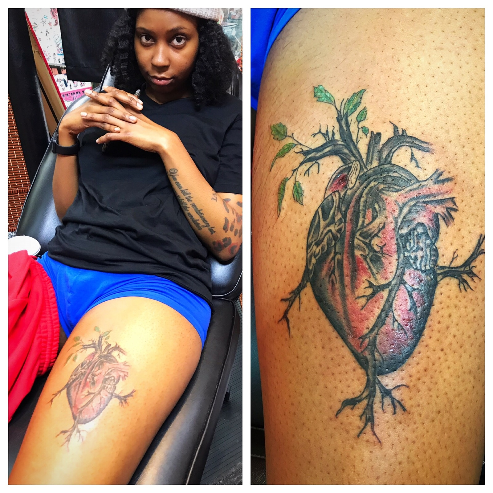 Heart Tattoo with Tree of Life by The Re