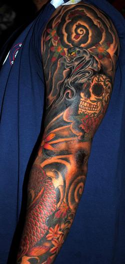 Japanese Sleeve Tattoo Restoration and C