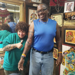 Powder and Ozzie at The Red Parlour Tatt