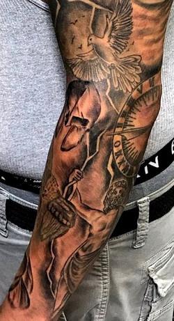 Greek Mythology Tattoo Sleeve by The Red