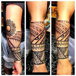 Polynesian Tattoo Half Sleeve by The Red