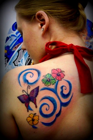 Butterflies After Tattoo Restoration by