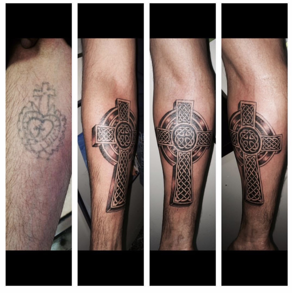 Tattoo Cover up with Celtic Cross by The