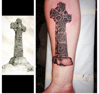 Celtic Cross Tattoos by The Red Parlour