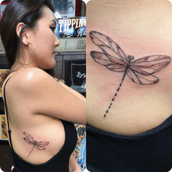 Dragonfly Tattoo by The Red Parlour Tatt