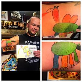 Dragon Tattoo Drawn by Danny's 5 year ol