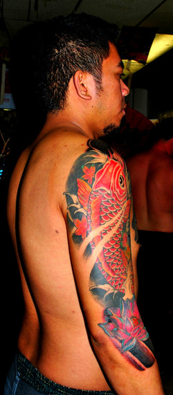 Koi Tattoo Sleeve by Powder The Red Parl