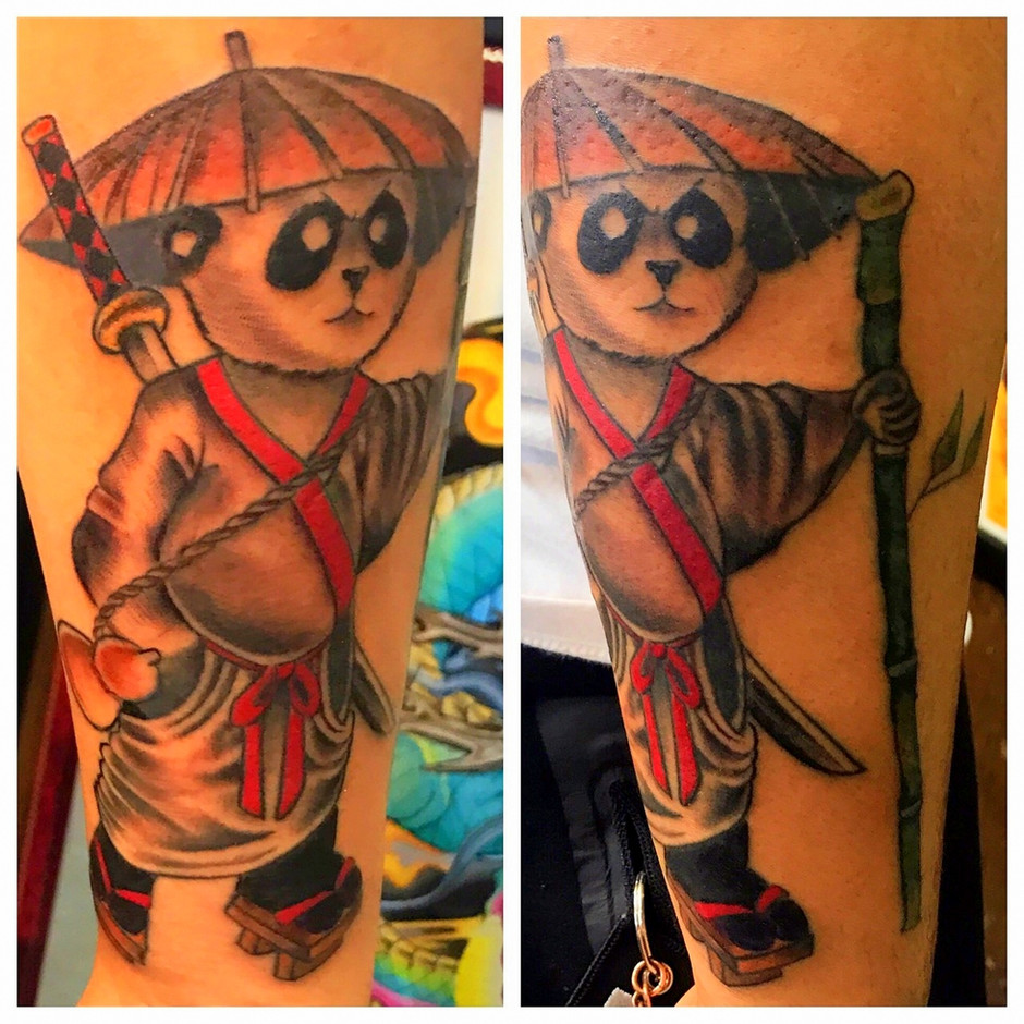 Samurai Panda Tattoo by The Red  Parlour Tattoo Woodside Queens  NY NY NYC Custom Tattoos by Powder-001.jpg