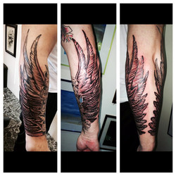 Wings Tattoo by The Red Parlour Tattoo Q