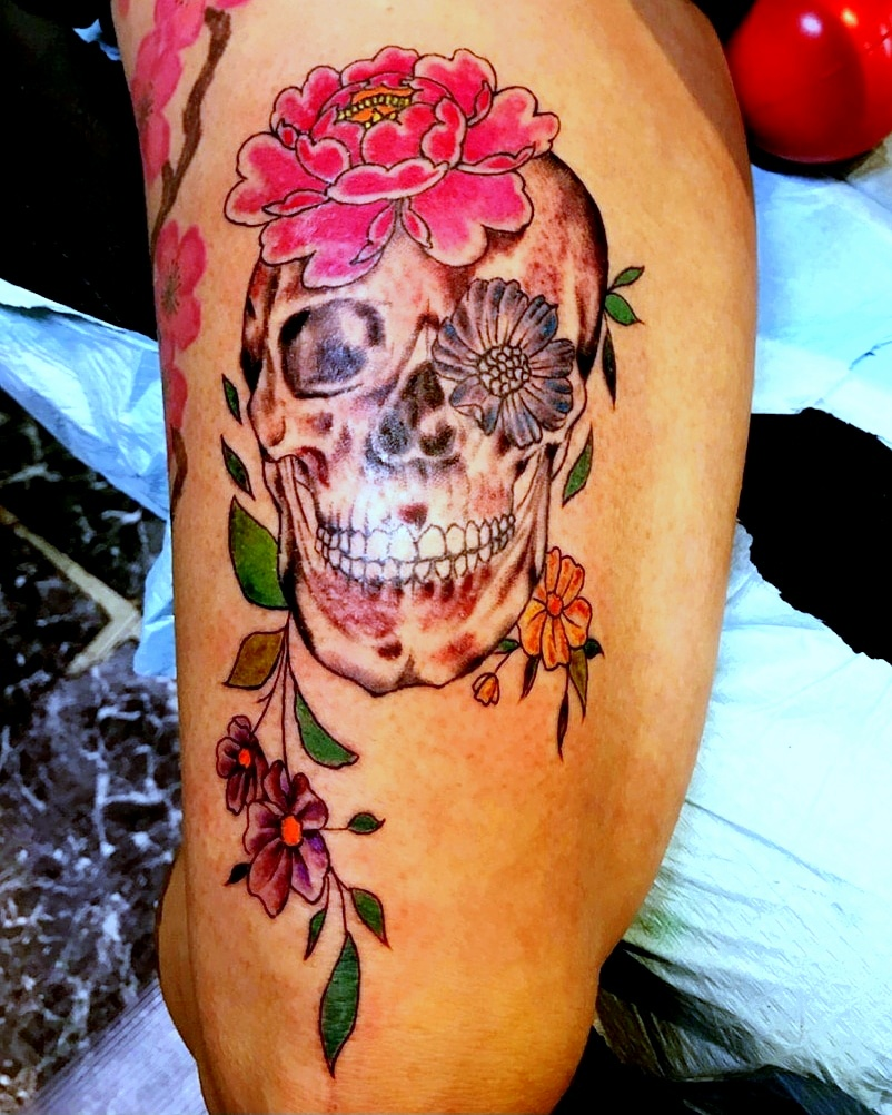 Sugar Skull Tattoos by The Red Parlour T