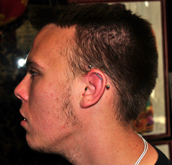 Industrial Piercing by The Red Parlour Tattoo & Piercing Woodside Queens NY NY NYC's Best Piercing Studio.JPG