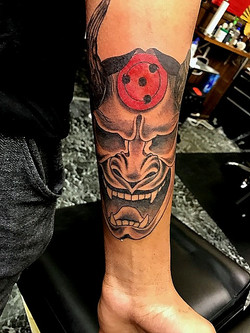 Oni Hannya Mask Tattoos by The Red Parlo