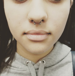Septum Piercing The Red PArlour Tattoo W