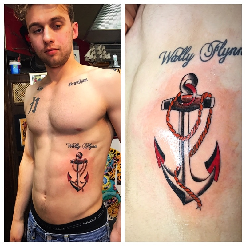 Anchor Tattoo by Powder The Red Parlour