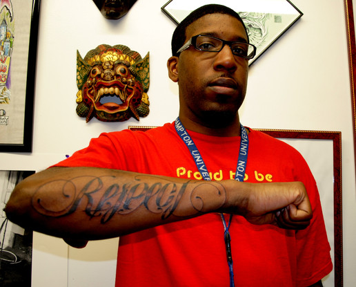 West Coast Style Lettering Tattoo by The