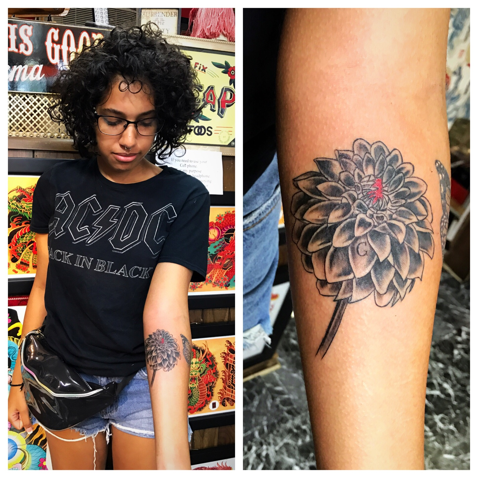 Dalia Flower Tattoo The Red Parlour Tatt