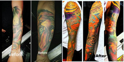 Tattoo Restoration by The Red Parlour Ta