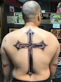 Cross Tattoo Back