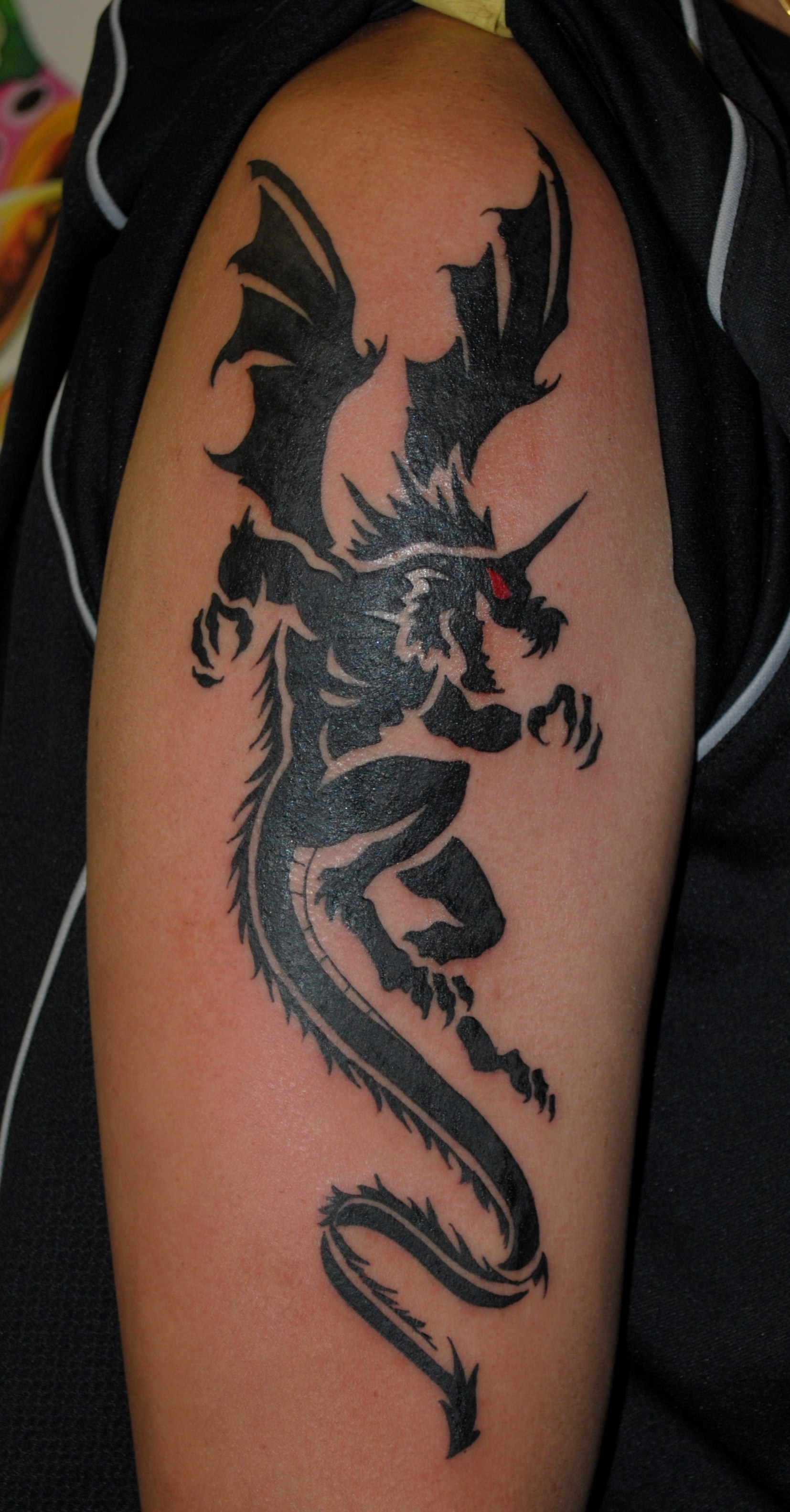 Tribal Dragon Tattoo by The Red Parlour