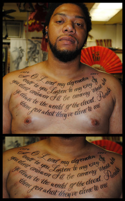 Psalm 28 1 Tattoo by The Red Parlour Tat