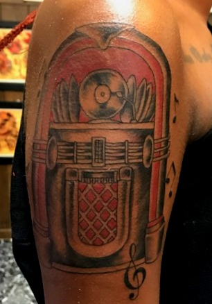 Juke Box Tattoo Designs for Dark Complex