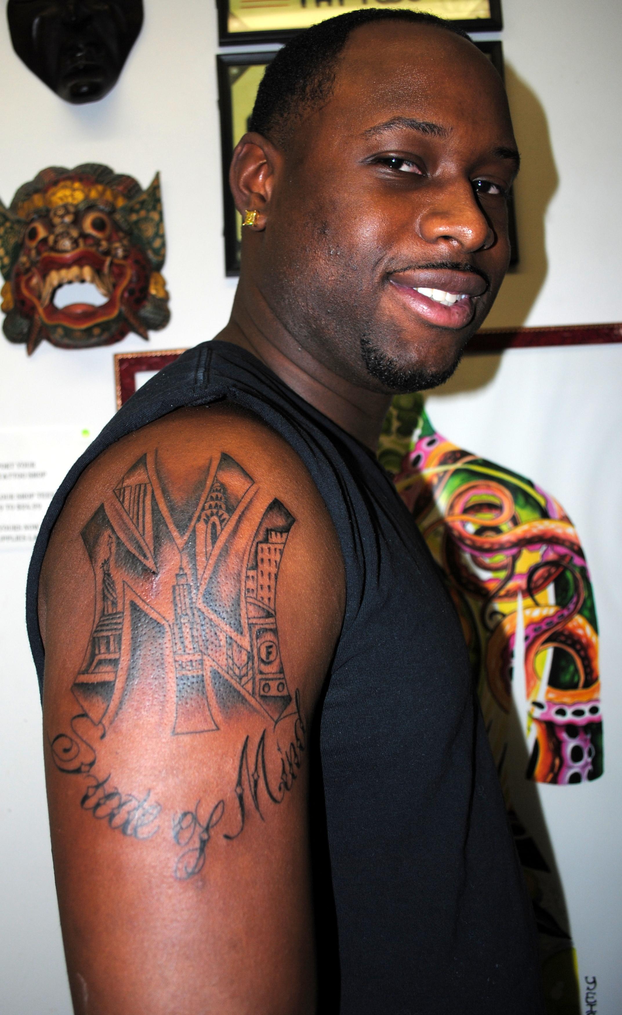 NY Yankees Tattoo Skyline Tattoo by The