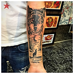Wolf Tattoo by The Red Parlour Tattoo Woodside Queens NY NY New York Citys Custom Tattoo Studio.jpg