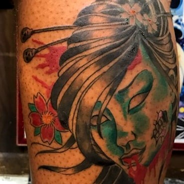 Geisha Zombie Tattoo by The Red Parlour