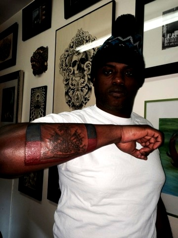 Haitian Flag Tattoo by The Red Parlour T