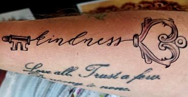 Kindness Skeleton Key Tattoo The Red Par