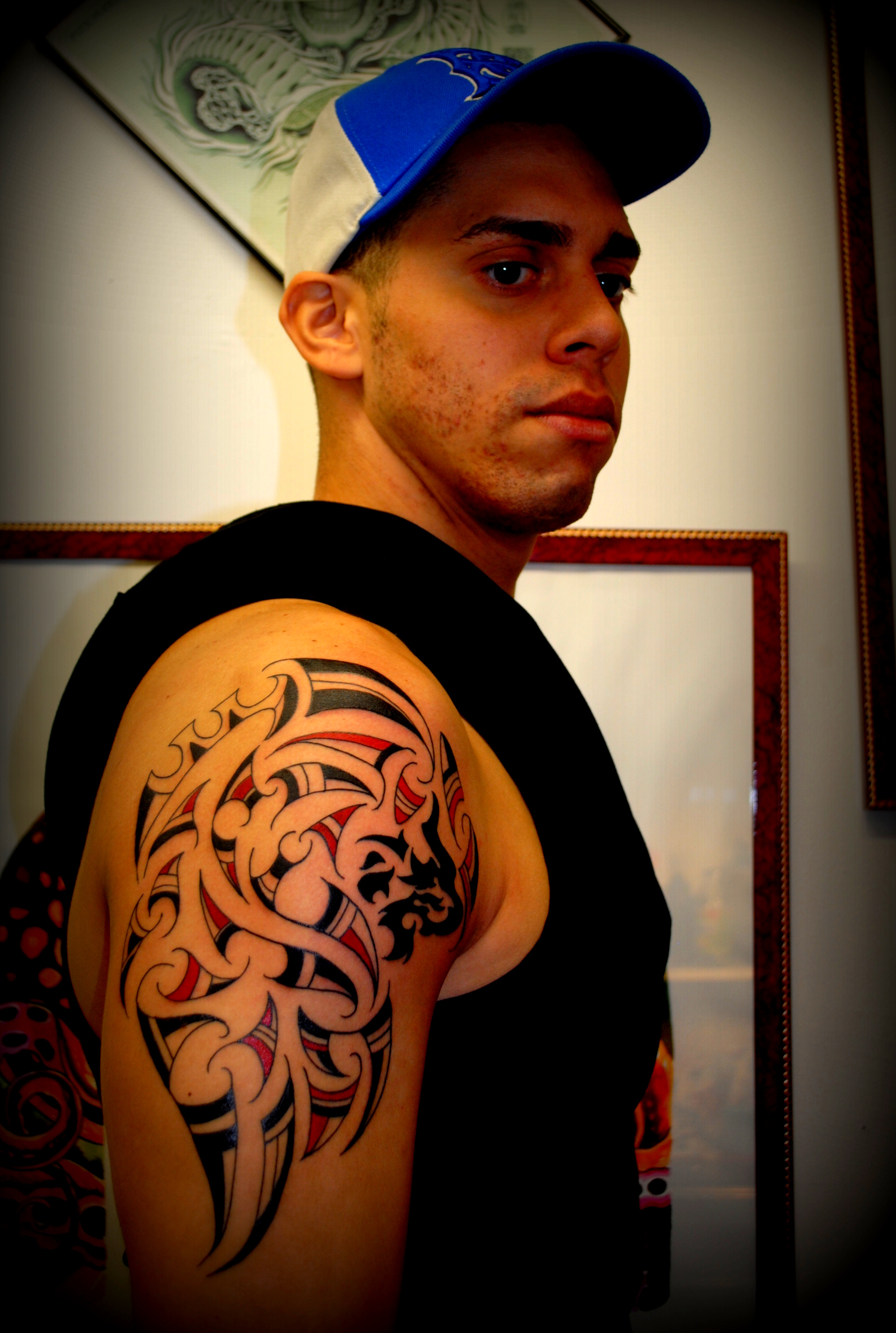 Tribal Black & Red Lion by The Red Parlo
