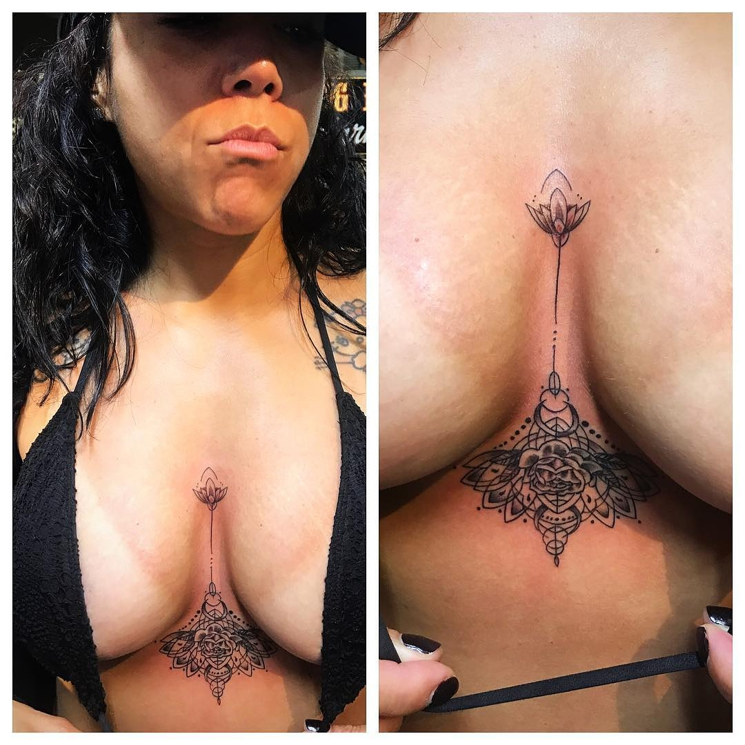 Lotus Tattoo Under Breast Tattoo by The