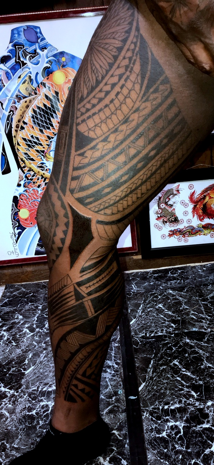 Polynesian Tattoo leg Sleeve by The Red