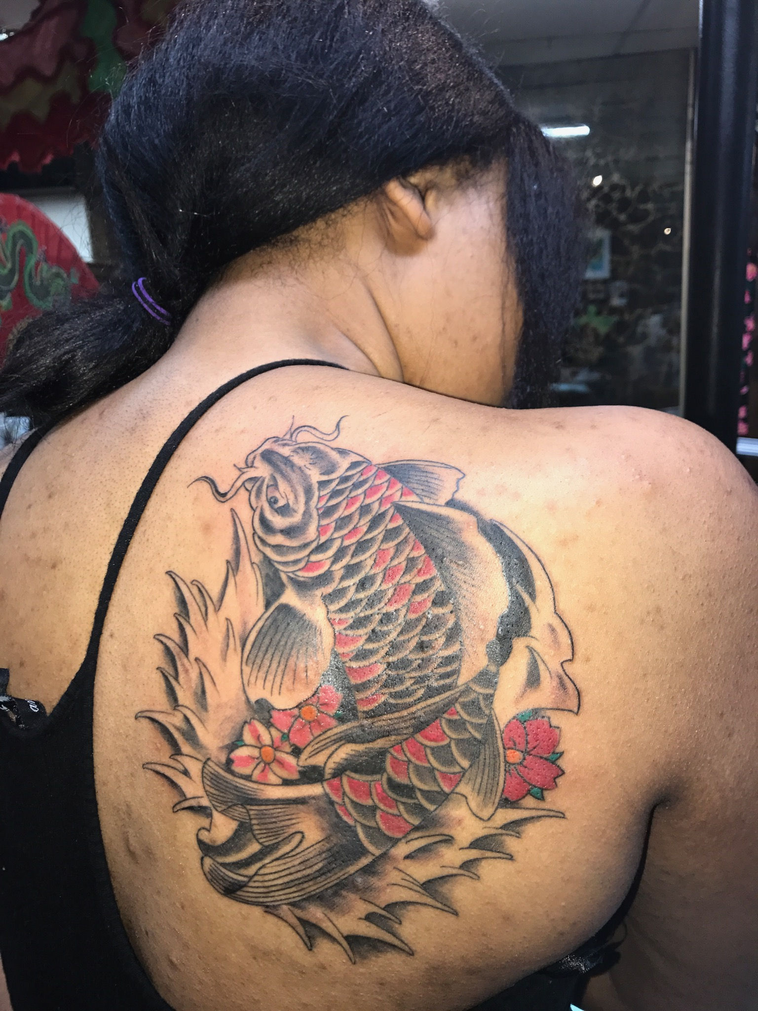 Koi fish Tattoo by The Red Parlour Tatto