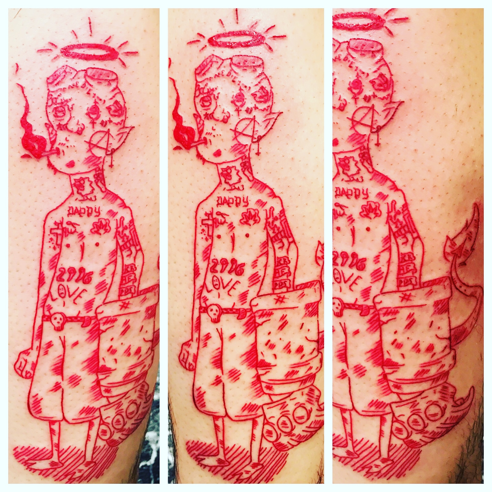Lil Peeps Tattoo by The Red Parlour Tatt