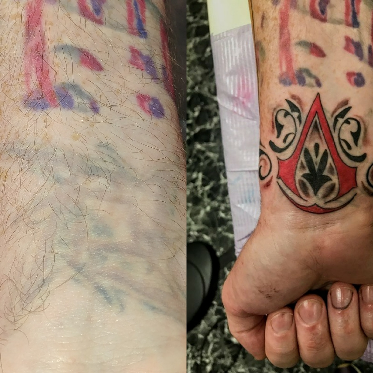 Tattoo Cover Up by The Red Parlour Tatto