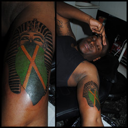 Jamaican Flag Pharaoh Tattoo by The Red