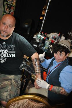 Powder and Kevin at No Limtis Tattoo Con
