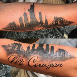 NYC Skyline Tattoo by The Red Parlour Ta