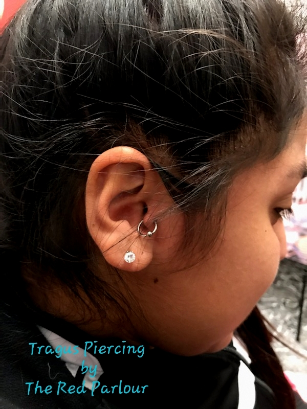 Tragus Piercing The Red Parlour Tattoo a