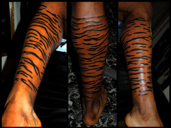Tiger Stripes Tattoo by Powdder at The R