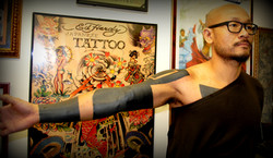 Black Out Tattoo by The Red Parlour Tatt