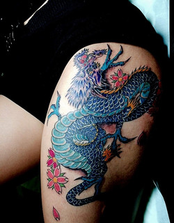 Japanese Dragon Tattoos by Powder The Re