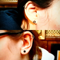 Helix Percing by The Red Parlour Tattoo