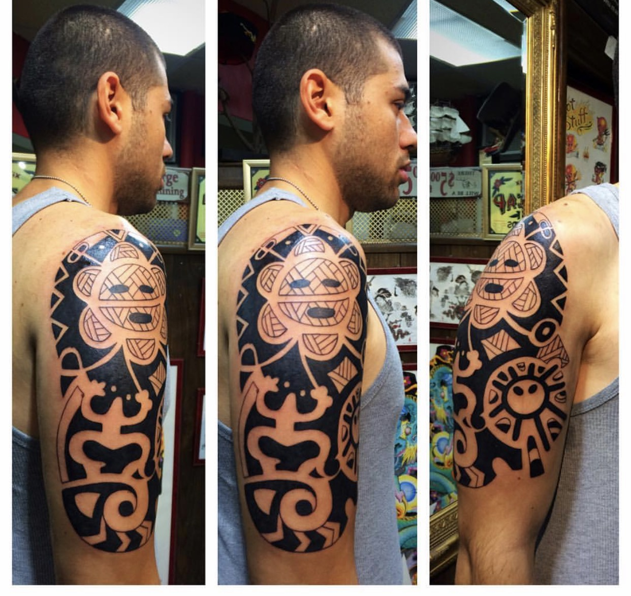 Taino Tattoo by The Red Parlour Tattoo &