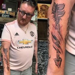 Arrow Tattoo by The Red Parlour Tattoo W