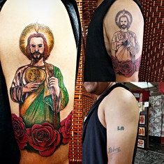 St. Jude Tattoo Tattoo Cover Up by Jorge