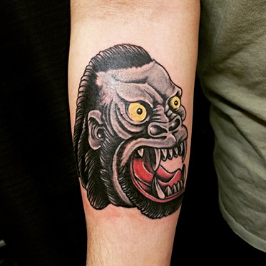 Gorilla Tattoo by Jorge The Red Parlour