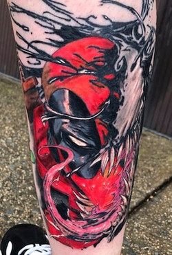 Venom Tattoo by Powder at The Red Parlou