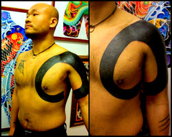 Circle Black Out Tattoos by The Red Parl